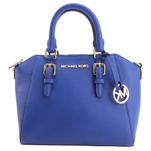 Michael Kors Ciara Medium Messenger Electric Blue